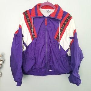 {Vintage} Purple Windbreaker Jacket Size Medium